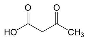 Acetoacetate decarboxylase - Image: Acetoacetic acid