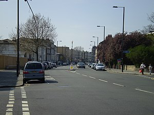 A2217 road - Image: Acre Lane (A2217 road)