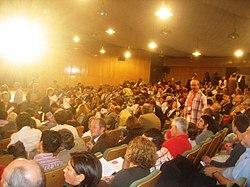 Acto fundacional (Auditorio de la Casa de Campo, Madrid 2007) de UPyD: el partido que más crece con la líder, relativamente, más valorada