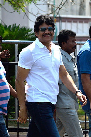 Akkineni Nagarjuna - Actor Nagarjuna at F1 show run in Hyderabad in  March, 2015