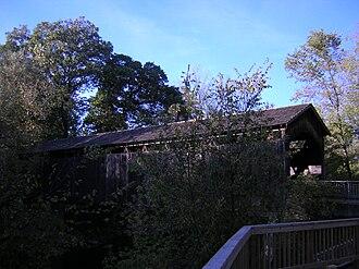 Thornapple River - Ada Covered Bridge, upstream view