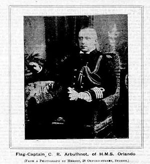 Arbuthnot as Flag-Captain of Orlando in Australia in 1892