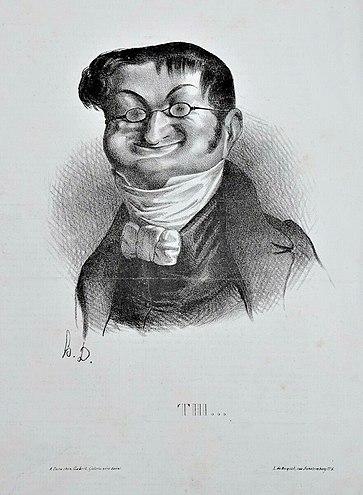Adolphe Thiers par Honoré Daumier