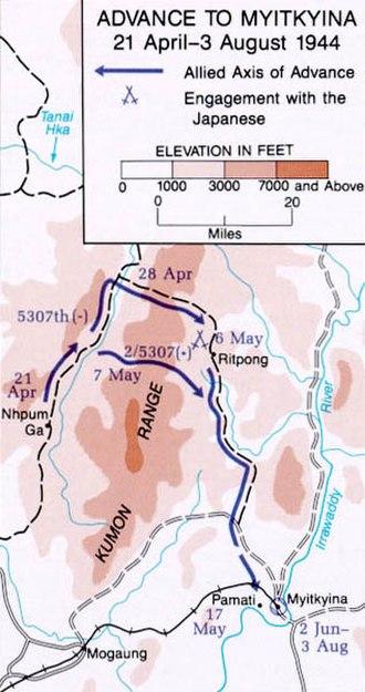 Siege of Myitkyina - Advance to Myitkyina