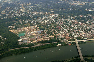 Campuses of Georgetown University - Aerial view of Georgetown University campus in 2011