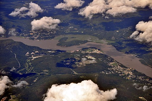 Aerial view of West Point and Hudson River 02 - white balanced (9614194870)