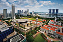 Aerial view of the Civic District, Singapore - 20110224