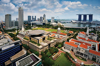 Civic District - An aerial view of the Civic District of Singapore