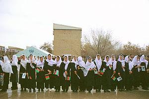 Education in Afghanistan - Afghan female students in 2002