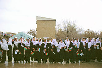 Education in Afghanistan - Afghan female students in 2002