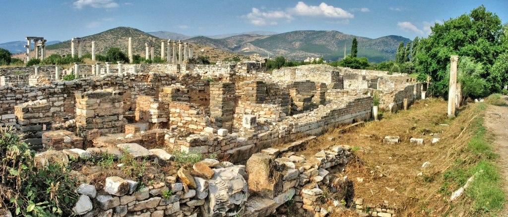 Die ägäische Küste der Türkei Türkei Afrodisias Artemis ve Bausterion Panorama