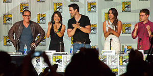 Agents of S.H.I.E.L.D. (season 1) - (L to R) Gregg, Wen, Dalton, Bennet and De Caestecker were among those on the 2013 San Diego Comic–Con panel, where the pilot was screened to a positive crowd reaction.