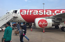 AirAsia flight at Kempegowda International Airport