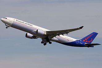 Brussels Airlines - Brussels Airlines Airbus A330-300 in interim livery