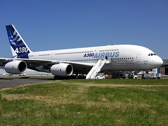 Double-deck aircraft - An Airbus A380 at the Paris Air Show in 2005
