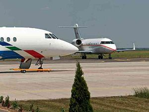 Győr-Pér International Airport - Image: Aircraft at Gyor Per International Airport
