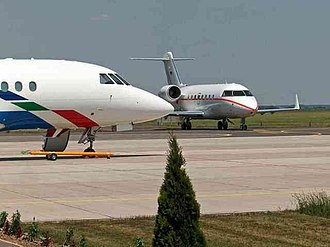 Győr-Pér International Airport - Image: Aircraft at Gyor Per International Airport