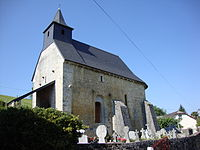 Alçabéhéty (Alçay-Alçabéhéty-Sunharette, Pyr-Atl, Fr) église et cimetière avec stèles basques.JPG