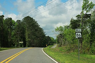 Alabama State Route 86 - Image: Alabama State Route 86 Sign