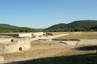 Archeological site of Alba-la-Romaine - District Palace