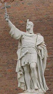 Monument commemorating Albert at Spandau Citadel, Berlin.