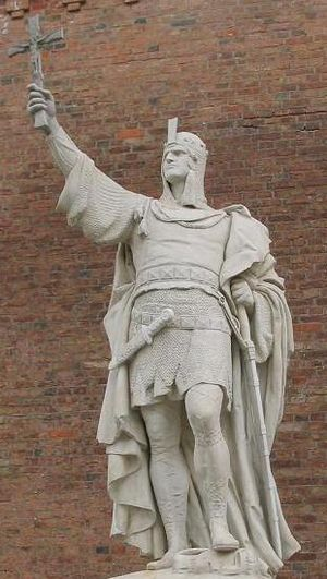 Albert the Bear - Monument commemorating Albert at Spandau Citadel, Berlin, by Walter Schott