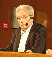 Albert fert 15 janvier 2009 Spintronique Paris Descartes.JPG