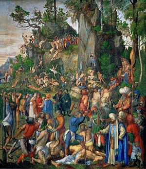 Martyrdom of the Ten Thousand - Image: Albrecht Dürer Marter der zehntausend Christen (Yorck Project)