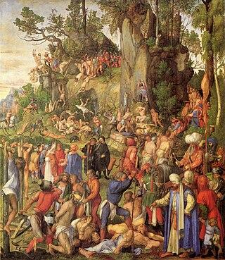Albrecht Dürer... 320px-Albrecht_D%C3%BCrer_-_Marter_der_zehntausend_Christen_%28Yorck_Project%29