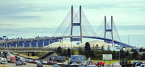 Delta, British Columbia - The Alex Fraser Bridge links Delta to New Westminster and Richmond.