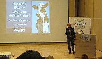Alex Hershaft - 'From the Warsaw Ghetto to Animal Rights' - Alex Hershaft, Tel Aviv University, May 2015