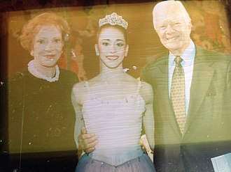 Alexandra Ansanelli - Image: Alexandra Ansanelli Nutcracker performance as Sugar Plum with President Carter and wife Rosalynn