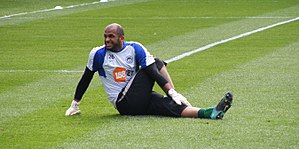 Ali Al Habsi warmup, Wigan Athletic v Birmingh...