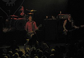 Skiba (left), Andriano (right), Grant (on drums) 2008