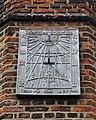 All Saints Church, Nazeing, Essex, England ~ sundial on south of tower 02.JPG