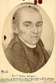 Allen Jones (Continental Congress) American statesman, 1739-1798