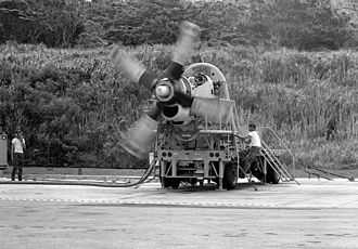 Allison T56 - A T56 on a mobile test unit at MCAS Futenma, 1982
