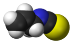 Space-filling model of allyl isothiocyanate