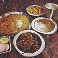 Aloo Parantha,Dal Makhani,Bhindi Dry,Paneer Burji.jpg