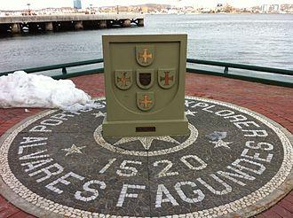 João Álvares Fagundes - Fagundes commemorative beside Halifax Harbour, Nova Scotia.
