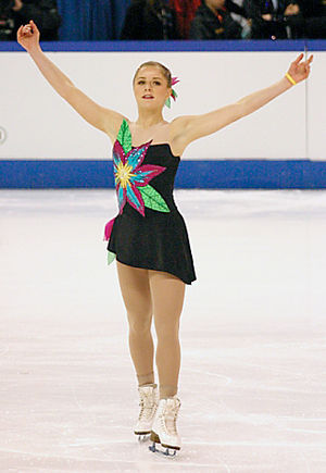 Amanda Billings - Billings competes her long program at the 2005 World Junior Championships in Kitchener, Ontario.