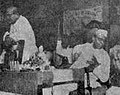 Ambedkar delivering speech in public meeting held to celebrate Buddha Jayanti at Narepark, Mumbai. Balasaheb Kher, Chief Minister of Bombay state was as a chair.jpg