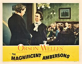 Advertentie voor The Magnificent Ambersons