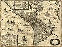 Mapa de América. Cartógrafo: Jodocus Hondius. C. 1640.