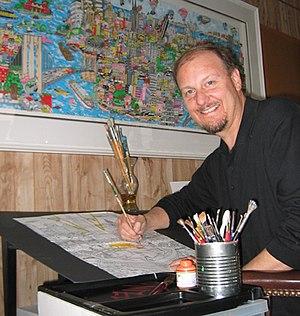 Charles Fazzino - Charles Fazzino in his studio