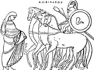 Amphiaraus - Amphiaraus on his chariot.