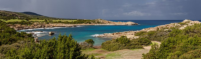 Amphitheatre Bay after a storm, Akamas Peninsula, Cyprus