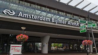 Amsterdam Bijlmer ArenA station - Amsterdam Bijlmer ArenA railway station in 2011