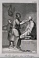 An Egyptian barber shaving a man in his shop; a boy assistan Wellcome V0019810EL.jpg