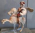 Ancient Greek figurine of an Amazon on horseback, taken at Eskenazi Museum of Art on 3 December 2019 (2).jpg